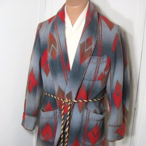 Robe made from Beacon Blanket material
